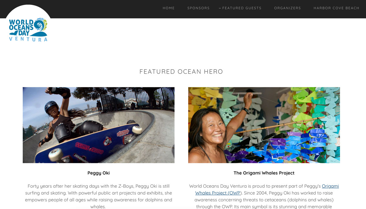 World Oceans Day Ventura feature Peggy Oki