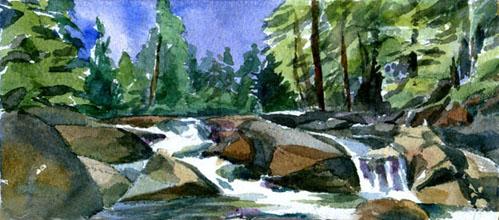 Falls Below Mirror Lake (Yosemite Nat'l Park)