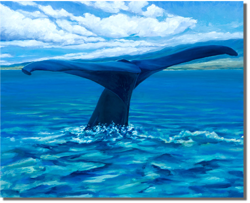 Fluke Up (Humpback Whale)