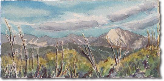 White Ledge Peak (behind Carpinteria)