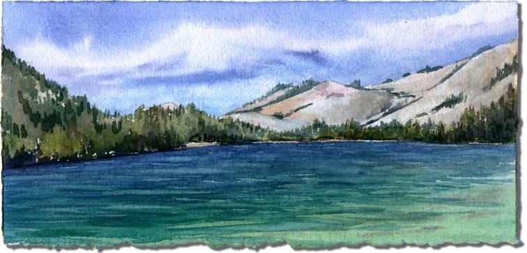 Tenaya Lake towards Olmsted Point
