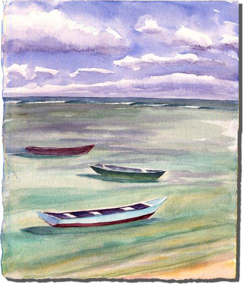 Kelp Boats at Anchor